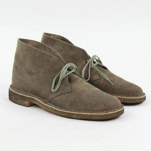 Clarks Originals Suede Taupe Chukka Desert Boots
